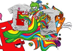 Rainbow Vomit t-shirt by Camcon