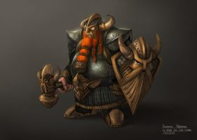 Dwarven Warrior by bramLeech