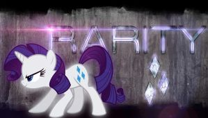 Futuristic grunge - Rarity wallpaper by Chaz1029