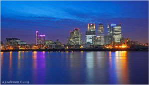 Canary Wharf From The O2. by andy-j-s