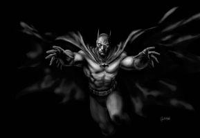 BATMAN gray tones by gabrielguzman