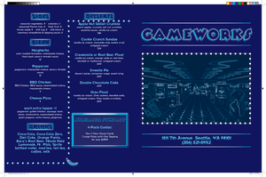 GameWorks Menu -Front and Back by nenglehardt