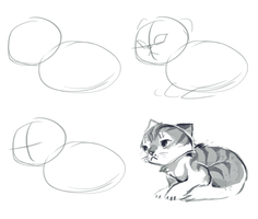 CAT DRAWING TUTORIAL 100% USEFUL pls use by Kyldrun