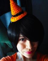 Mini witch hat in action by LilliM00