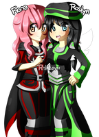 Fiona and Roslyn by PinkLovii