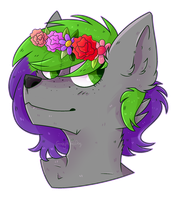 [PC] Wonderful smell of flowers by GreyAlphaDog