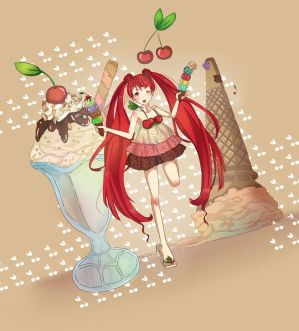 I Scream for Ice Cream with a Cherry on Top! by yesmimiuniverse