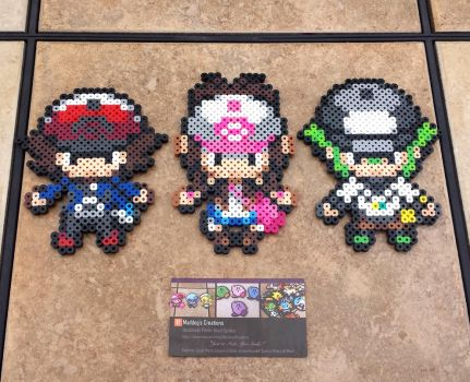 B +W Trainers 2.0 - Pokemon Perler Bead Sprites by MaddogsCreations