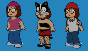 3 costumes of Meg by stumanbud