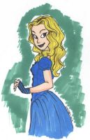 Traditional Pinup_Alice by DisneyAddict2012