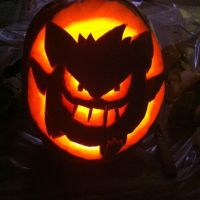 My first carved pumpkin!!! by pinknailpolish89