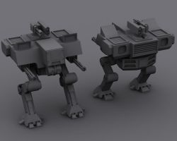 BattleField 2142 Style Walker by HollowIchigoBanki