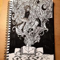 Inktober day 12- Magical Book by AyshaArts