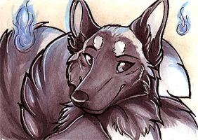 ACEO- Lucidkitsune by NightFell