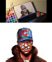 Watercolor Kid Cudi by theonlybriman47