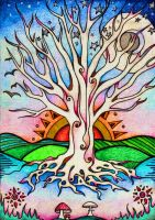 tree of life sketch by lauraborealisis