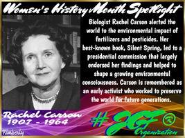 JGF Womens History Month Rachel Carson Poster by Kimberly-at-JGF