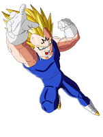 Majin Vegeta D:!! by CrystalisZelda