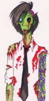 watercolor zombie. by ZOMBIES-GO-RAWR