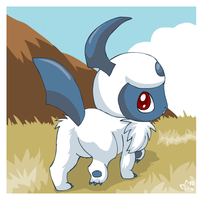 Chibi Absol Appeared by pichu90