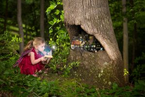 Mairead and the Fairy Tree by swiftmoonphoto