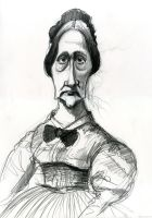 Unknown Civil War era woman by Caricature80