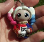 Polymer Clay Chibi Suicide Squad Harley Quinn by ShadyDarkGirl