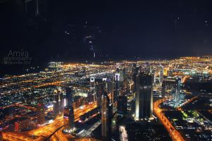 Zayed road at night from top new edition by amirajuli