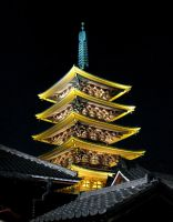 The Senso-ji Pagoda At Night by Alexandra-chan