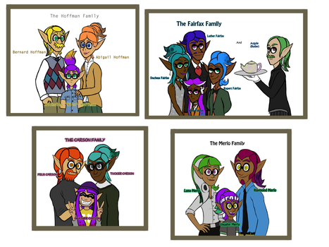 Splatoon: Purple Team Families by GlassesCat