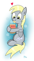 Derpy loves her baking book by Mascimus