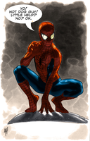 Spidey likes hot dogs.... by Balla-Bdog