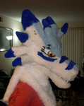 Weregarurumon Finished Fursuit Head by StraylightRevelation