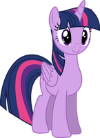 Twilight Sparkle Smiling by 90Sigma