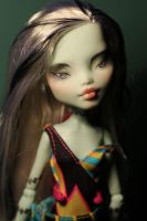 Monster High Repaint Commission - Frankie by Armeleia