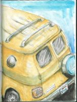 school bus safety yellow by kirkfinger