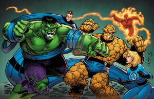 Hulk and Fantastic Four by RossHughes