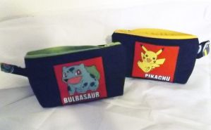 For Sale:Pokemon pouches grass and thunder by CL-Pinkskull
