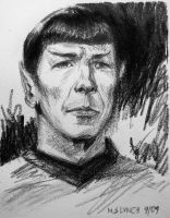 Spock On The Bridge by SuburbanAngst