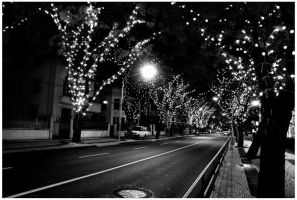 Christmas lights. by buryxmexinxblack