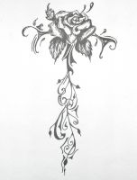 Rose Tattoo Design by Lacrimosa-Jem