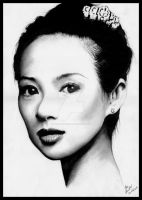 Ziyi Zhang by Pencil-Stencil