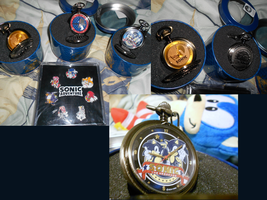 .:Sale:. Sonic Pocket Watches + SA Pins by SEGAMew