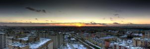 Sunset over Minsk by angelobisi