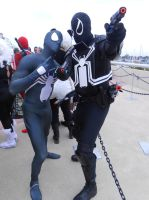 Black suit Spidey and Agent Venom by pa68