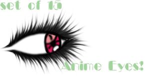 Anime Eyes - set of 15 by reneeGHOUL13