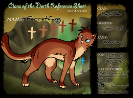 .:CotN:. Ferretfang Ref Sheet by Allizia