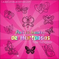 Pack de brushes de mariposas by LauraClover
