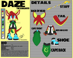 Ref sheet - Daze the kangaroo by Wild-Baguette