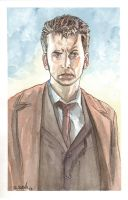 Dr. Who Tennant 02 Watercolor... by ssava
